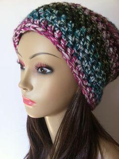 Crochet SemiSlouch Beanie Thick & Soft  Huntress by ScarletsCorner, $23.00