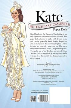 kate royal paper doll