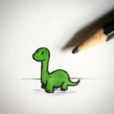 I drew tiny dinosaurs, i call them Tinosaurs Indie Drawings, Small Drawings, Cool Art Drawings, Doodle Drawings, Art Drawings Sketches, Doodle Art, Easy Drawings, Animal Drawings, Skateboard Tattoo