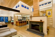 Kitchen/Living Area. Beautiful lines!(Cultivate.com) #cultivateit
