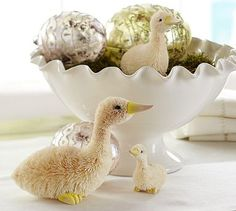 Decorate for #Easter celebrations with bottlebrush ducklings.