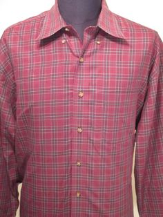 Brooks Brothers Red Plaid Dress Shirt Long Sleeve Formal Wear Size XL  #BrooksBrothers