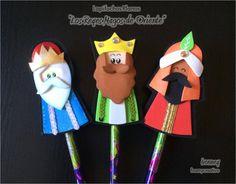 Adorno navideño en foami, Lapifuchos, Reyes magos, foamycreativo
