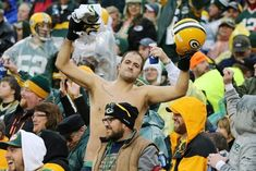 A few Packers fans decided to brave the frigid temperatures at Lambeau Field on Sunday and gear up with some warm winter hats. Barclays Center, Warm Winter Hats, Packers, Nfl, Passion, Guys, Celebrities, Vikings, Yard