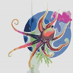понравилось издеваться над своими старыми рисунками #illustrations #art #drawing #artwork #process_of_creativity #sketch #digitalart #digital #doodle #octopus  #geometric #_talent  #inspiration #belinsta по цветам должна @veronika_zojac заценить , думаю #deerroe
