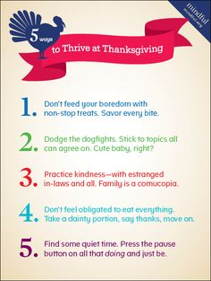 5 Ways to Thrive at Thanksgiving   Mindful