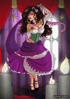 Disney Pin-Ups - Wall to Watch - Esmeralda