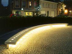 Public bench / original design / concrete / glass VILLETTE  Escofet