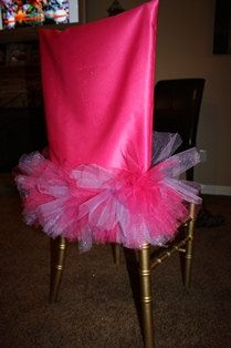 Items similar to Pink and purple glitter tutu chair cover, Birthday Decor on Etsy Birthday Chair, Baby Girl Birthday, Birthday Tutu, Unicorn Birthday, Dinner Party Table, Dinner Room, Gala Dinner, Wedding Furniture, Wedding Chairs