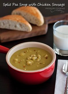 Split Pea Soup with Chicken Sausage