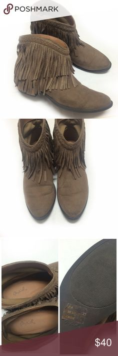 Qupid fringe ankle boots Boho-chic fringe ankle boots by Qupid in size 8! I adore these, but they don't get worn so they need a new home. Near perfect condition and great on comfort! Rock them through the whole year! Faux suede outer Qupid Shoes Ankle Boots & Booties