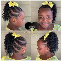 Little Girl Braid Styles, Kid Braid Styles, Little Girl Braids, Braids For Kids, Girls Braids, Children Braids, Kid Braids, Tree Braids, Cute Little Girl Hairstyles