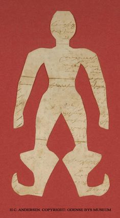 Hans Christian Andersen-http://www.lefiguredeilibri.com/ Paper figure cut by the Danish author