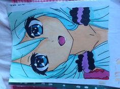 Another Pinner Said: My first finished anime drawing :) but it's full of mistakes :( I'm still learning