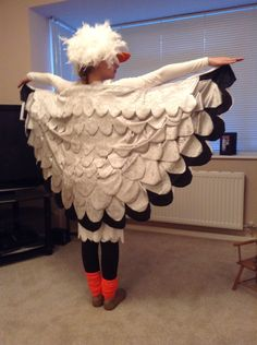 Seagull costume The Little Mermaid 2017, The Little Mermaid Musical, Little Mermaid Costumes, Seussical Costumes, Diy Costumes, Halloween Costumes, Sea Creature Costume, James And Giant Peach, Lamb Costume