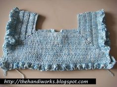 Crochet Bodice Pattern | If you have figured out that this is part of a garment, you are half ...