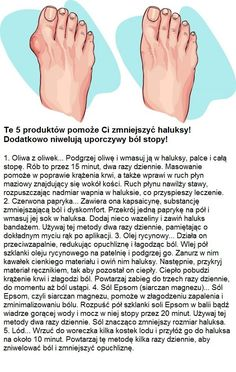 Te 5 produktów pomoże Ci zmniejszyć haluksy! Dodatkowo niwelują uporczywy ból stopy!!! Home Spa, Opi, Health And Beauty, Food To Make, Beauty Makeup, Life Hacks, Health Fitness, Exercise, Workout