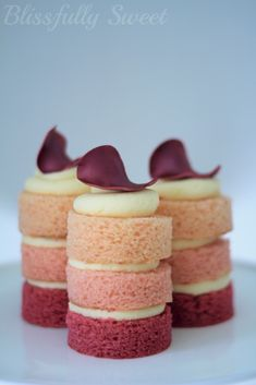 Ombre petite cakes by Blissfully Sweet