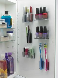 Organizing Your Bathrooms -- Organized Medicine Cabinet