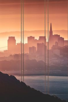 Sunrise in San Francisco through glass- by: Jim Su