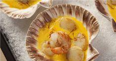Entre terre et mer, la noix de Saint-Jacques et son lard grillé à la crème de safran vous donnera des envies de vacances