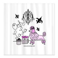 OohLaLaPoodle Shower Curtain