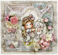 Tilda card by LLC DT Member Tina Makuc, using papers from Reprint.