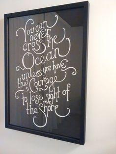 #courage #santostudios Chalkboard Quotes, Art Quotes