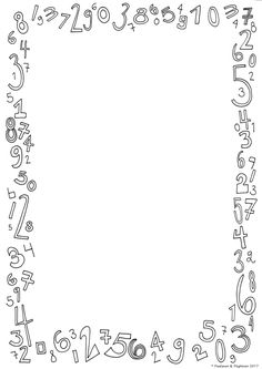 Doodle Borders, Borders For Paper, Page Borders Design, Border Design, Math Border, Page Frames, Free Printable Stationery, Boarders And Frames, Calligraphy For Beginners