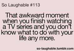 This is exactly how we felt when we finished Doc Martin, Band of Brothers, Monarch of the Glen, John Adams, and now Foyle's War...