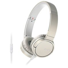 Sony On-Ear Smartphone Headphones - Silky Ivory Beats Headphones, Over Ear Headphones, Uk Deals, Best Shopping Sites, Cool Things To Buy, Stuff To Buy, Headset, Smartphone, Notebook