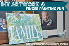 """""""We are Family"""" - fun finger-painted artwork for kids"""