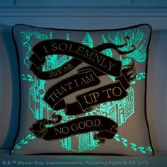 HARRY POTTER™ Marauder's Map Pillow Cover - So cute!!! but I think it's too expensive for a pillow :(