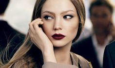 Mode Germany: Burgunder Lippenstift Mode  #mode #Makeup