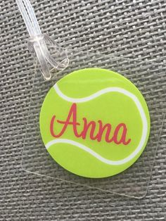 Tennis Bag Tag Sport Bag Tag Tennis Party Favor Tennis Gift Tag Tennis Gift Personalized  Tennis Them f5c87d294b87c
