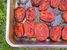 le hamburger et le croissant: Tomates Roma rôties