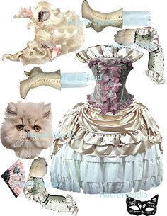 printable paper doll Kitty Marie Antoinette by Raidersofthelostart