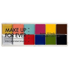 What it is: A 12-piece palette of twelve vibrant Flash Colors for eyes, cheeks, and lips. What it does: This 12-Piece Make Up For Ever Flash Color Case is found in the kits of many well-known makeup artists. Create an array of looks for eyes, chee