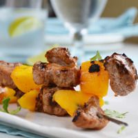 Ancho-Marinated Pork and Mango Skewers from our blog -- custom-made for Phase 1!