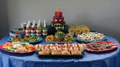 Catered Superhero party www.facebook.com/wilddaisy