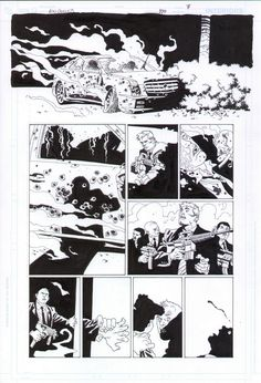 100 Bullets #100 page 7 Gun Fight by Eduardo Risso $1000 Comic Art