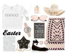 """FeminEaster"" by wearyourdissent ❤ liked on Polyvore featuring Aspinal of London, Accessorize, Temperley London, Tabitha Simmons, Topshop, Eugenia Kim, Chanel, Monica Vinader and feminist"