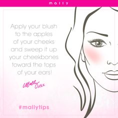 For rosy cheeks, start your day off with a smile! Do you do this?! #mallytips #beautytips #makeuptips
