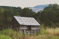 Rustic abandoned shed in Ogden Valley, Utah.