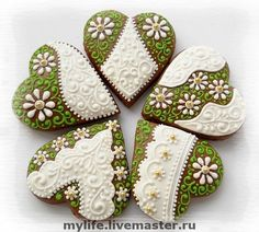 "пряники-сердечки ""Весенние "" - пряники-сердечки,сладкий подарок,к празднику"