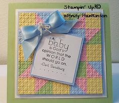 Quilt card....cut 3/4 inch squares