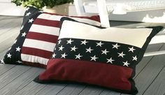 6 Elegant Patriotic Home Decor Ideas Americana Stars and Stripes Pillows.Americana Stars and Stripes Pillows. Americana Crafts, Patriotic Crafts, July Crafts, Pillos, Quilt Of Valor, Patriotic Quilts, 4th Of July Decorations, Americana Decorations, Sewing Pillows