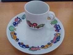 Ovodai porcelán bögre és kistányér szett (70's) Childhood, Tableware, Infancy, Dinnerware, Dishes