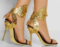 Sandálias Coloridas E Metalizadas