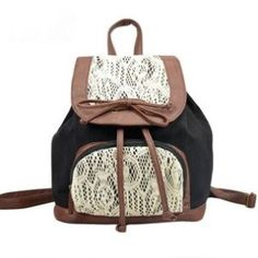 b531931013 Cute Lace Bowknot Backpack Bag Lace Backpack